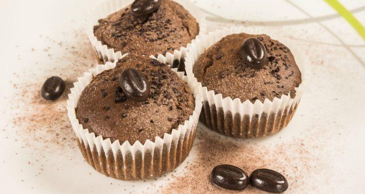 cappuccinos muffin, kávés muffin tálalva