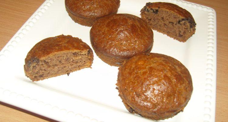 gesztenyés csokis muffin tálalva