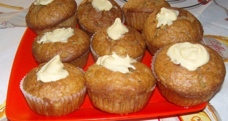 körtés muffin fehércsokival