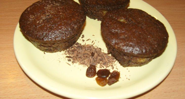 mazsolás csokis muffin